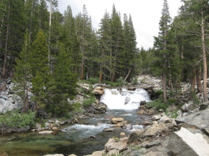 Land of big rivers. But not as big as in 2009. Easy river crossings so far through the Sierra.