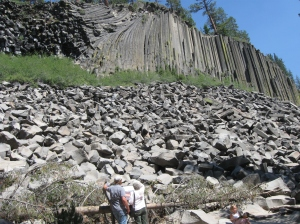 Devils Postpile National Monument near Red's Meadow. A rare form of amazing columnar basalt!