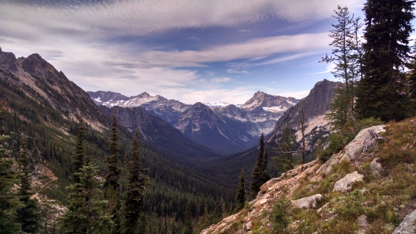 Looking back from near the top of Cutthroat Pass