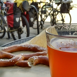 organic beer and pretzels in santa cruz