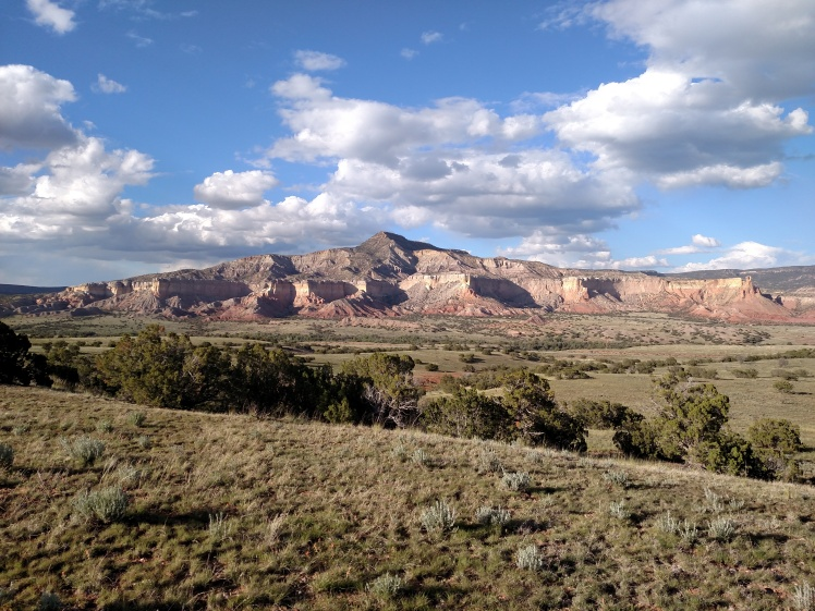 On the approach to Ghost Ranch.
